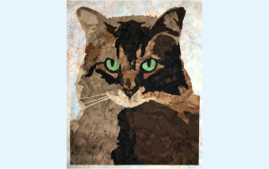 Beeper the Maine Coon Cat Fusible Laser Cut Applique