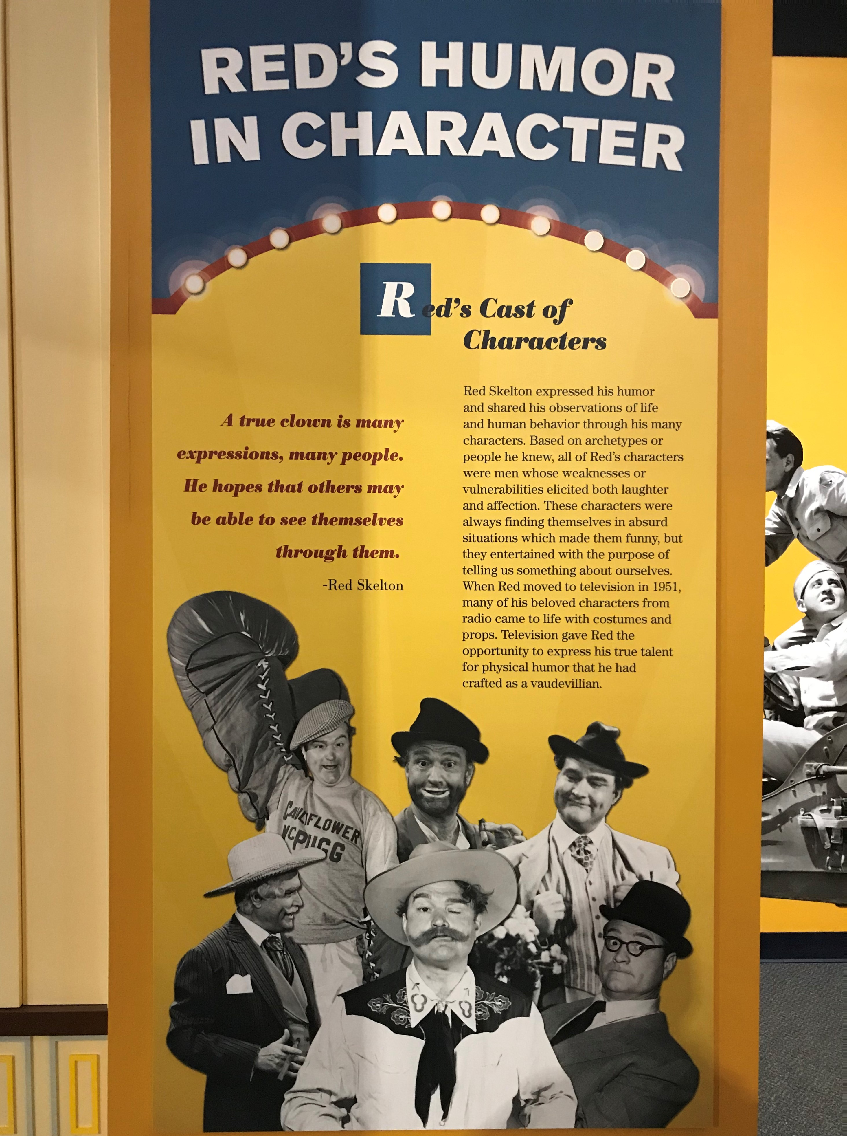 The public faces of Red Skelton!
