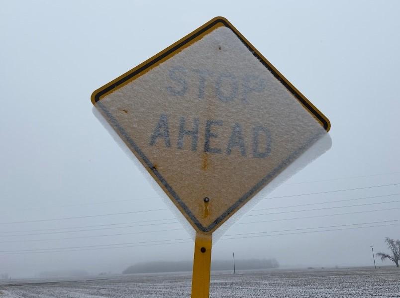 Winter Stop Ahead