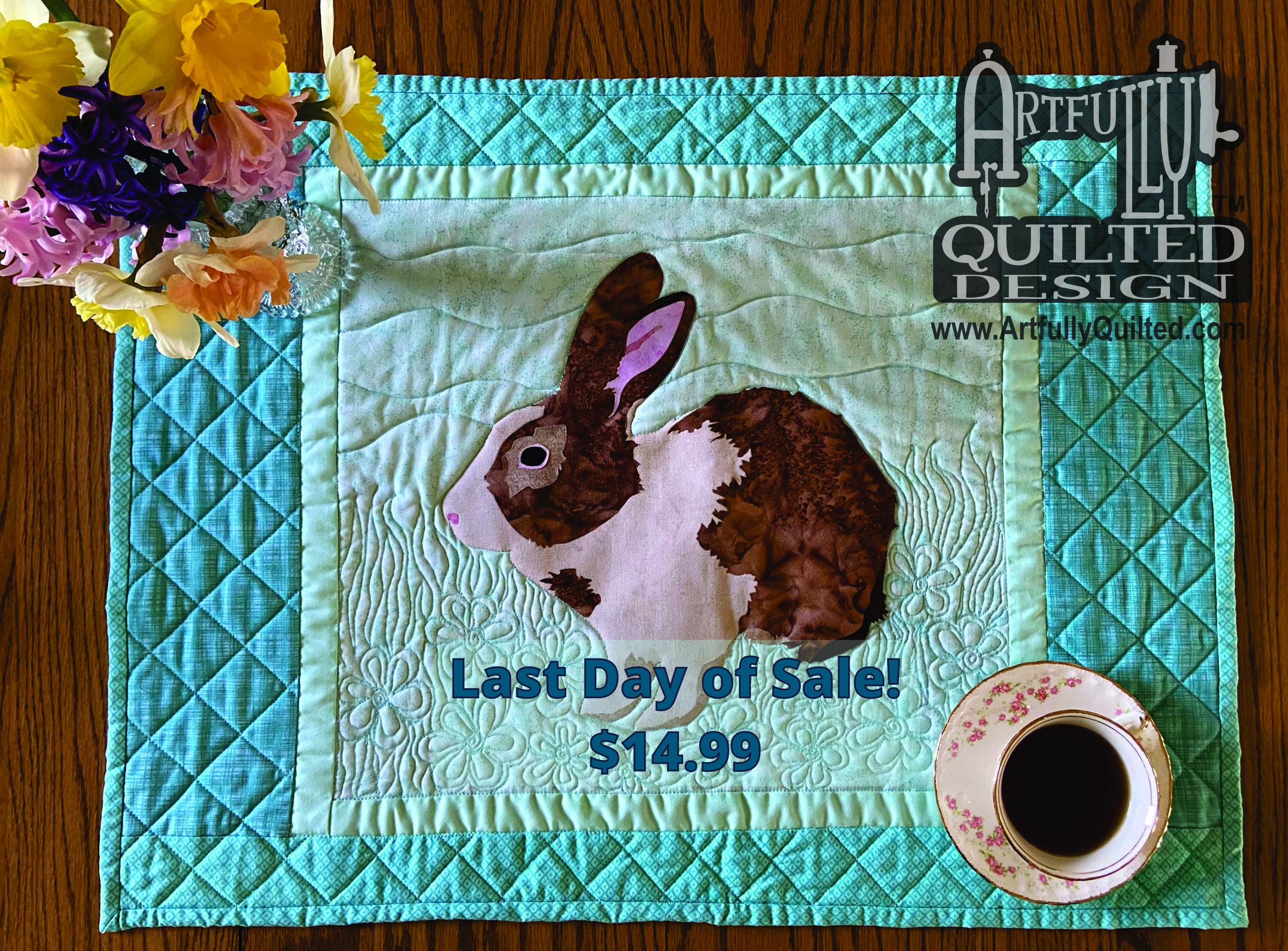 Bunny Table Runner w logo last day sale