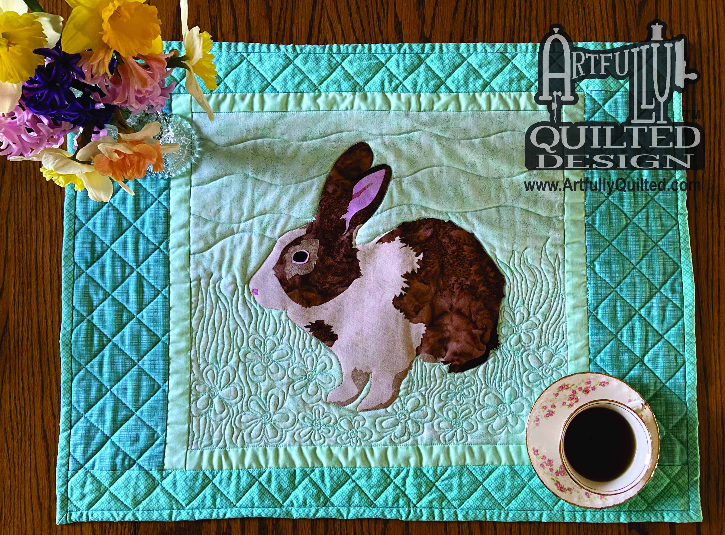 Bunny Table Runner w logo
