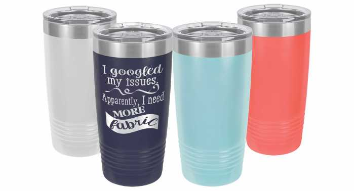 Sewing/Quilting Themed 20 oz Travel Mug Cup Tumbler All Color