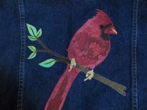 Scarlet Cardinal Laser Cut Applique Kit